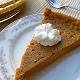 Low Fat Impossible Pumpkin Pie.