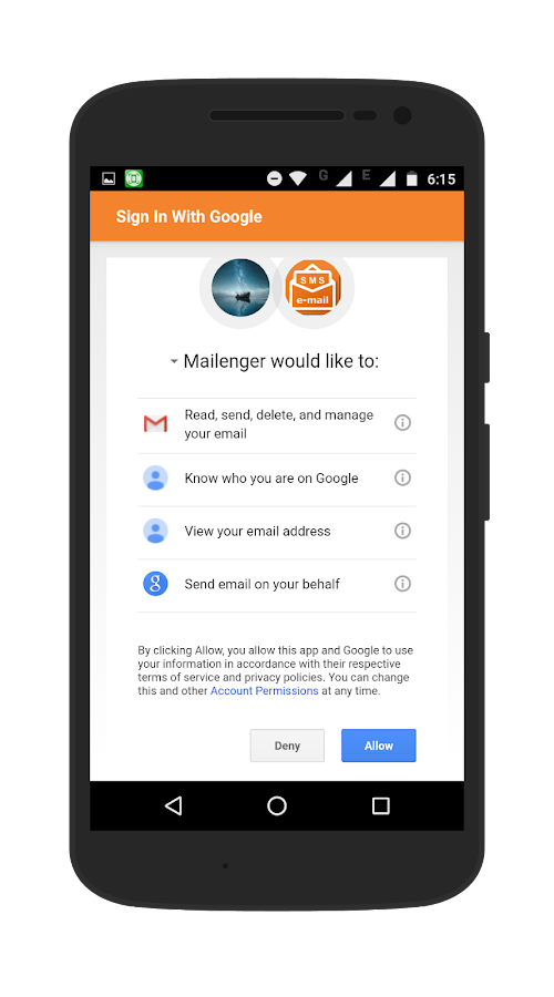Mailenger- screenshot