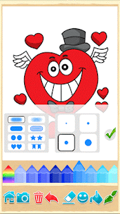 Valentines love coloring book- screenshot thumbnail