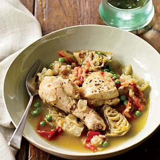 Chicken Tagine with Artichoke Hearts and Peas