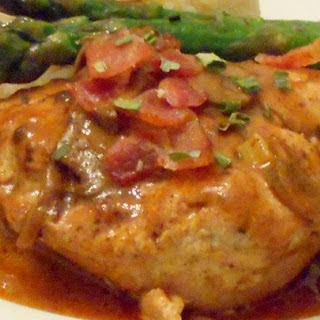 Chicken Breasts in a Sour Cream and Wine Sauce.