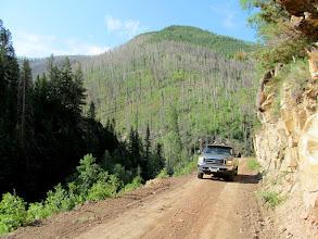 Photo: Climbing above the canyon bottom