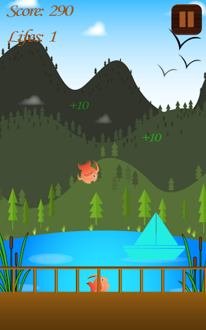 android Hungry Fish Splashy Swipe Game Screenshot 0