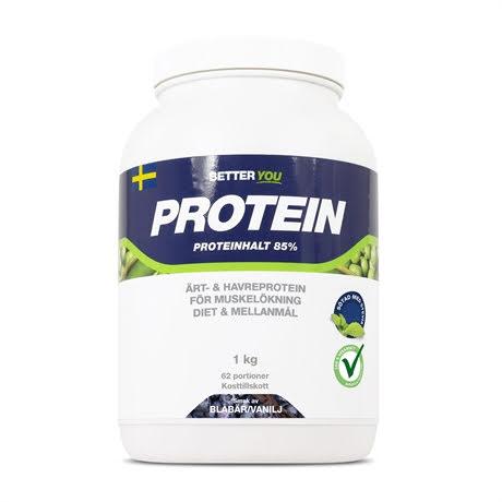 Better You Ärt och Havre Protein 1kg - Blåbär Vanilj
