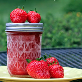 We had an abundance of strawberries in the orchard this year. The photos below are from our second crop. We have plenty to eat fresh, make several batches of freezer jam, and the rest are bagged and frozen for future use. Strawberry Freezer Jam