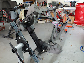 Photo: Chassis completely stripped with new horisontal steering mounts welded in