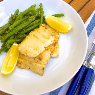 Pan Fried White Fish with Pistachio-Pesto Green Beans Recipe