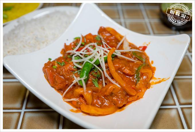 瑪哈印度餐廳香料蔬菜雞肉咖哩