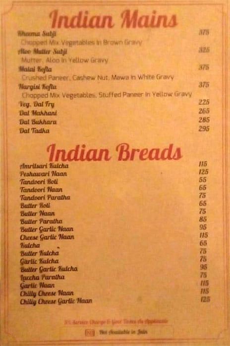 Timess Square Restaurant menu 9