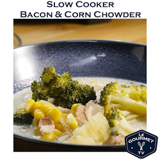 Slow Cooker Bacon & Corn Chowder