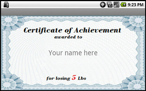 Weight Loss Certificate Template Certificate Weight Loss Certificate