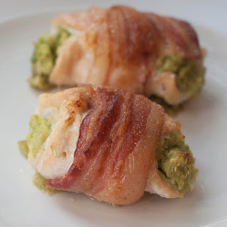 Avocado Stuffed Chicken Wrapped in Bacon
