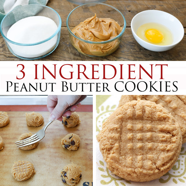 Old Fashioned 3 Ingredient Peanut Butter Cookies Recipe
