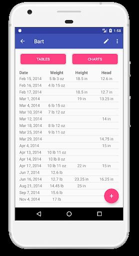 Child Growth Tracker 4.76 Screenshots 6