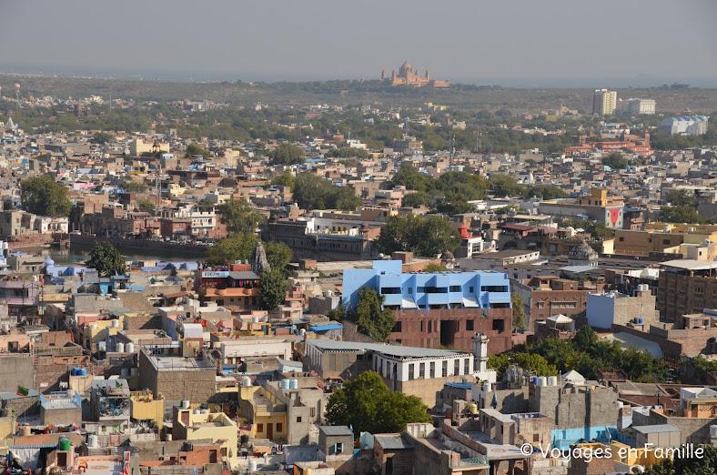 Vue Jodhpur depuis le fort