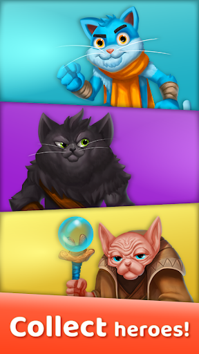 Cat Heroes: Puzzle Adventure 44.3.2 screenshots 2