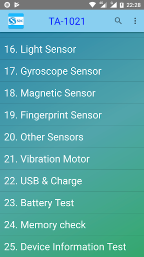 Samsung Device Checker (Phone and tablet testing) 2.1.1 screenshots 1