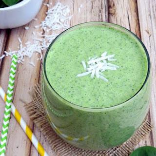 Green Coconut Smoothie #Recipe.