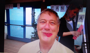 Photo: A poor job of putting on lipstick while blindfolded.