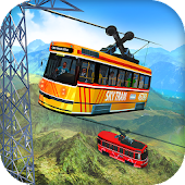 Sky Tram Cable Car Driving: Tourists Coaster Ride