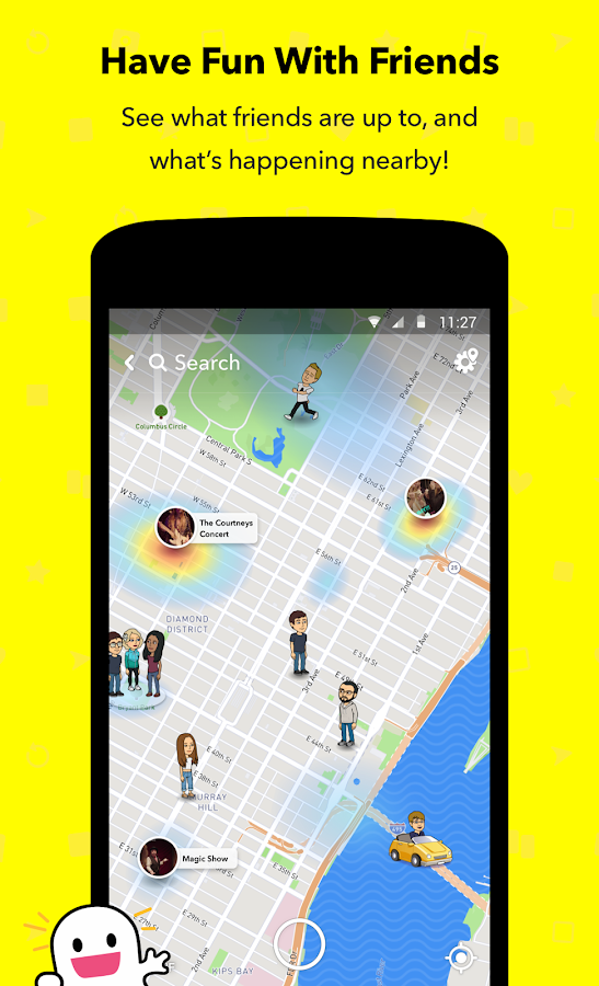 Screenshots of Snapchat for iPhone