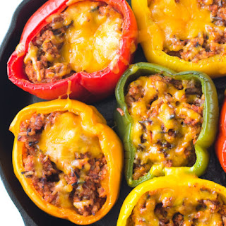 Ground Turkey Stuffed Peppers.