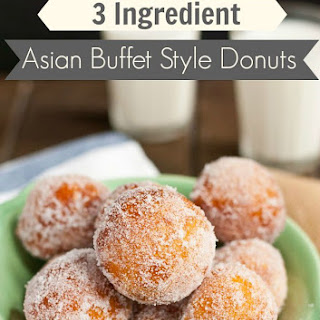 3 Ingredient Copy Cat Asian Buffet Donuts