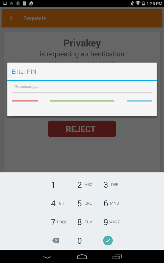 Privakey- screenshot