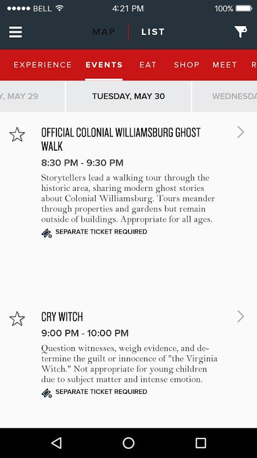 Colonial Williamsburg Explorer- screenshot