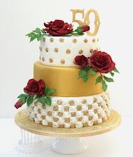 Photo: http://tortentante.blogspot.de/2013/03/Torte-Goldene-Hochzeit.html