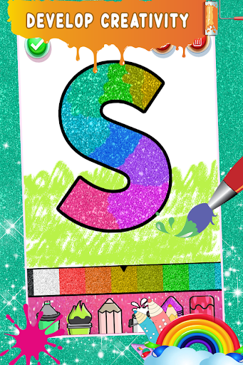 Glitter Number Coloring and Drawing Book For Kids 5.0 screenshots 8
