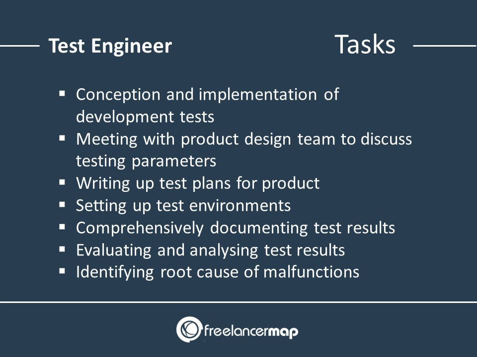 List of responsibilities required as Test Engineer
