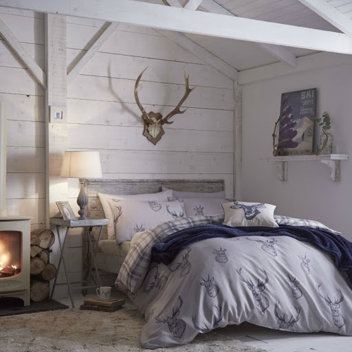 Catherine Lansfield Stag Duvet Cover Set in Navy now in Stock