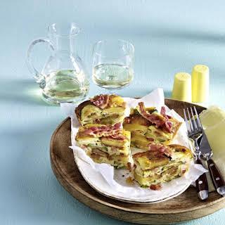 Potato and Zucchini Frittata.