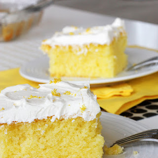 Moist and Tangy Lemon Poke Cake (…Gluten Free version included)