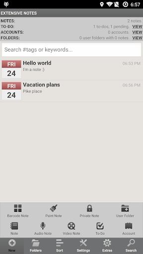 Extensive Notes Pro - Notepad screenshot 2