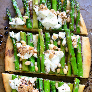 Asparagus Goat Cheese Flatbread