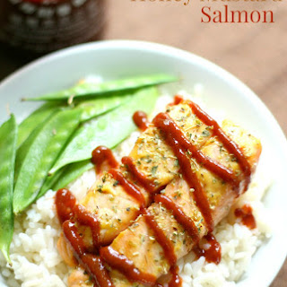 Sriracha Honey Mustard Salmon (Gluten-Free, Paleo).