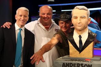 Photo: Anderson, Mauro, Turtleman, and AnderCake on set.