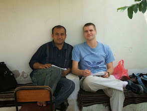 Photo: Mr. Sameer with John (german student)