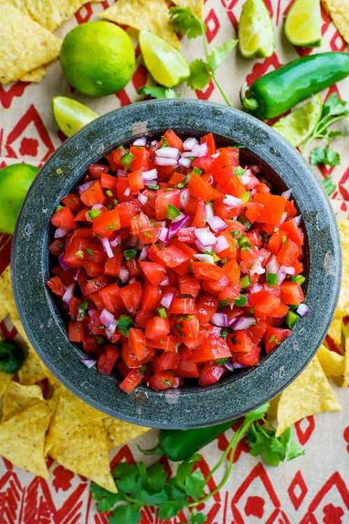 "Pico de Gallo""Pico de gallo (aka salsa fresca, aka salsa cruda) is..."