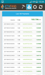 EthFans Mining Pool Monitor- screenshot thumbnail