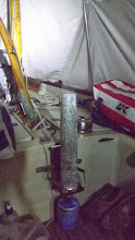 Photo: Central heating in the tent