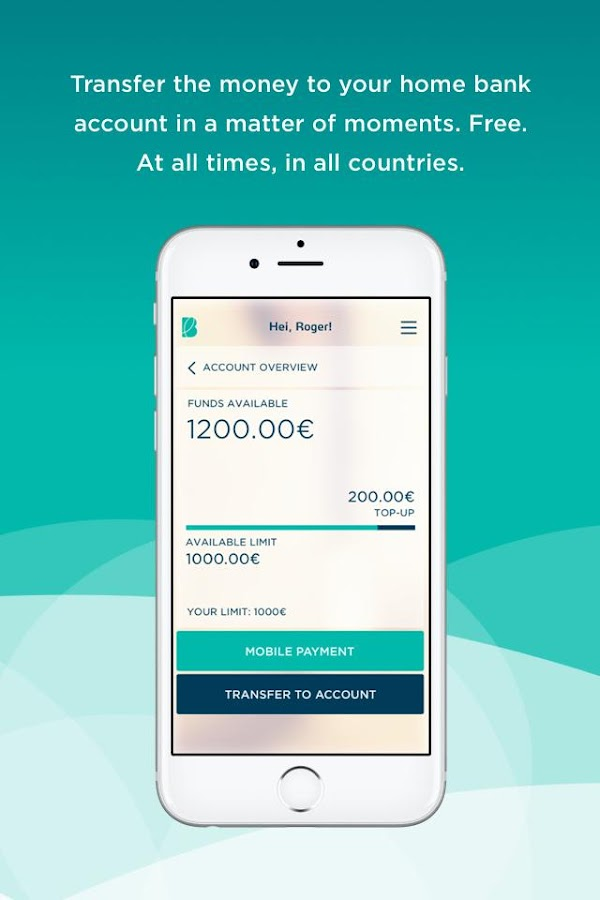 Bigbank mobile credit card- screenshot
