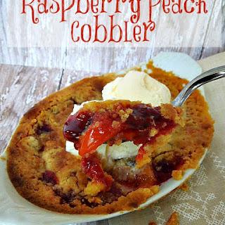 Raspberry Peach Cobbler.