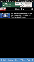 Screenshot of KMOT-TV First Warn Weather