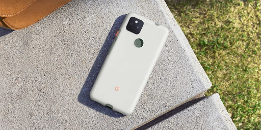 A person sitting next to a Pixel 5a (5G) Case.