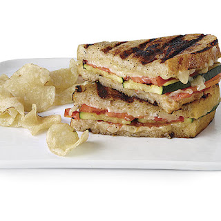 Grilled Zucchini and Cheese Sandwiches