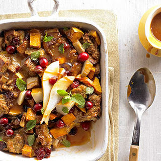 Butternut Bread Pudding with Bourbon Caramel Sauce