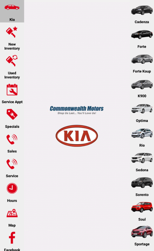 Commonwealth Kia- screenshot